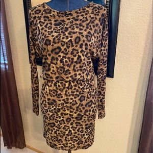 Michael Kors Leopard Print Dress XXS